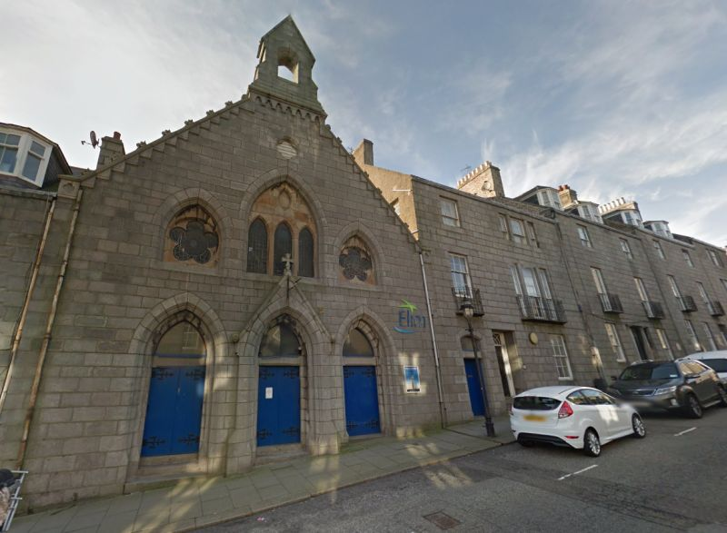 A Google StreetView Image of the former Theatre Royal, Aberdeen, today the Elim Pentecostal Church - Click to Interact.