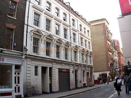 Rear and stage door of the fourth and present Adelphi Theatre in Maiden Lane in 2006.