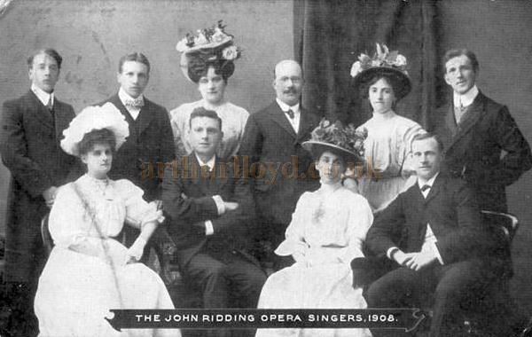 The John Ridding Opera Singers in 1908 - Courtesy Graeme Smith.