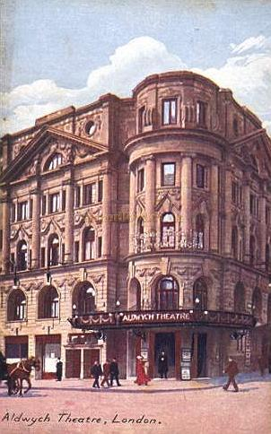 An early postcard showing the Aldwych Theatre.