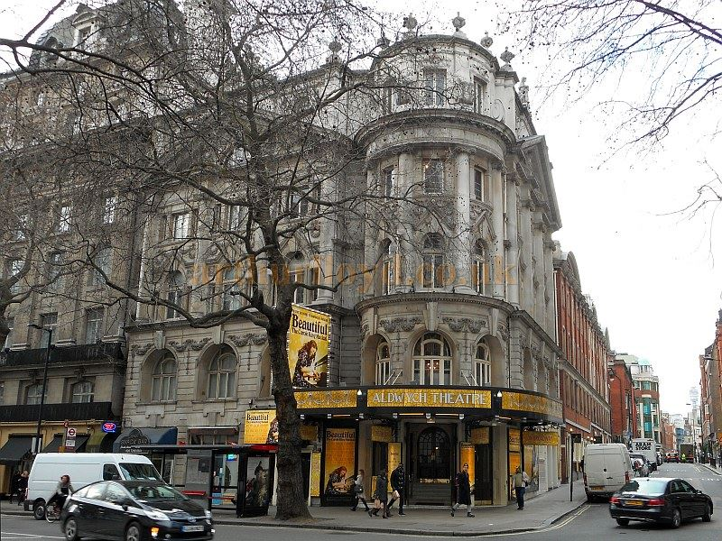 The Aldwych Theatre whilst in production for the Carole King musical 'Beautiful' in February 2015 - Photo M.L.