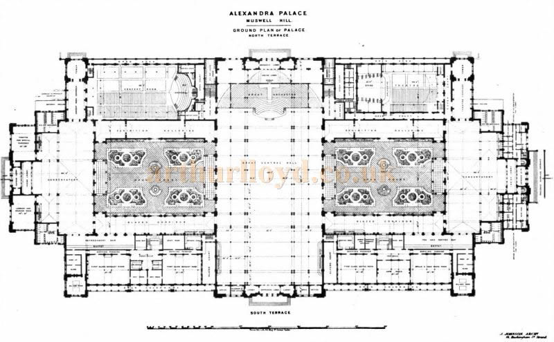 A Ground Plan of the Alexandra Palace - From the Building News and Engineering Journal, February 6th 1874.