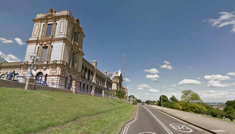 A Google StreetView Image of the Alexandra Palace - Click to Interact