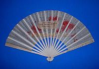 An original fan from the Alhambra Theatre given away free to members of the audience. Click to enlarge.