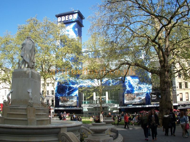The Odeon Leicester Square in April 2014. The Cinema was built on the site of the former Alhambra Theatre and Royal Panopticon of Science and Art - Photo M. L.