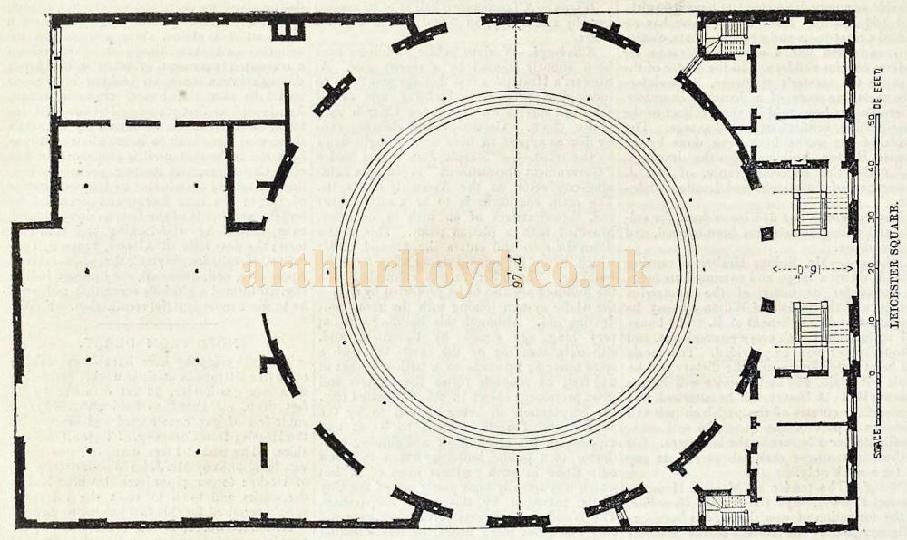 A Plan of the Royal Panopticon of Science and Art - From 'The Builder' Vol 9, December 1851.