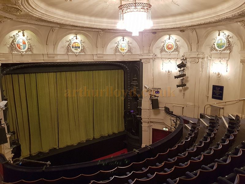 The Auditorium and Proscenium of the Ambassadors Theatre in May 2018 - Photo M.L.