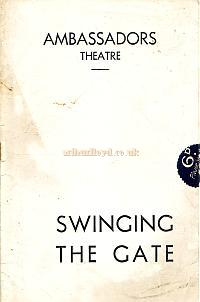 Programme for 'Swinging The Gate' at the Ambassadors Theatre in 1940, which was a sequel to 'The Gate Revue' of 1939.