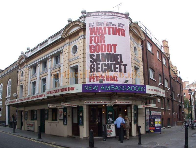 The Ambassadors Theatre during the run of 'Waiting For Godot' in October 2006