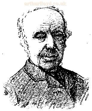 A sketch of Horatio Lloyd - From an article in the Chiel, 25th of May, 1889 - Courtesy Adam McNaughtan.