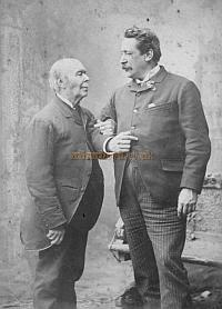 Horatio Lloyd and his son Richard Delarue in 1889, the year Horatio died - Courtesy James Francis and Robert Cunningham. Click to enlarge.
