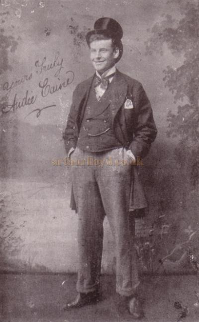A photograph of Andie Caine, signed by himself, and published in the Arthurian Annual of 1904 - Courtesy Shirley Cowdrill