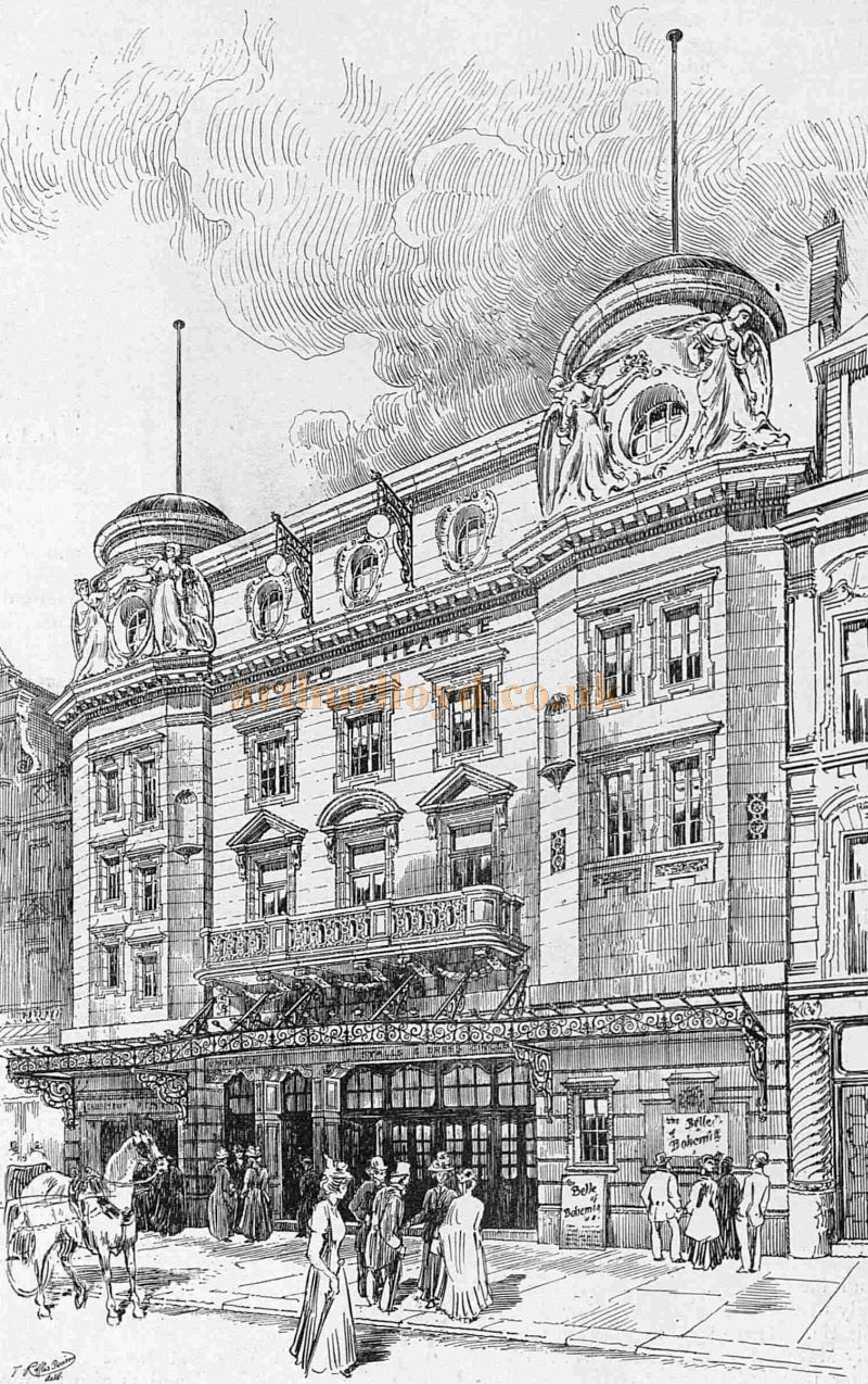 "Mr. Lowenfeld's new "" Apollo Theatre"" in Shaftesbury Avenue - From The Sketch, 13th February 1901."