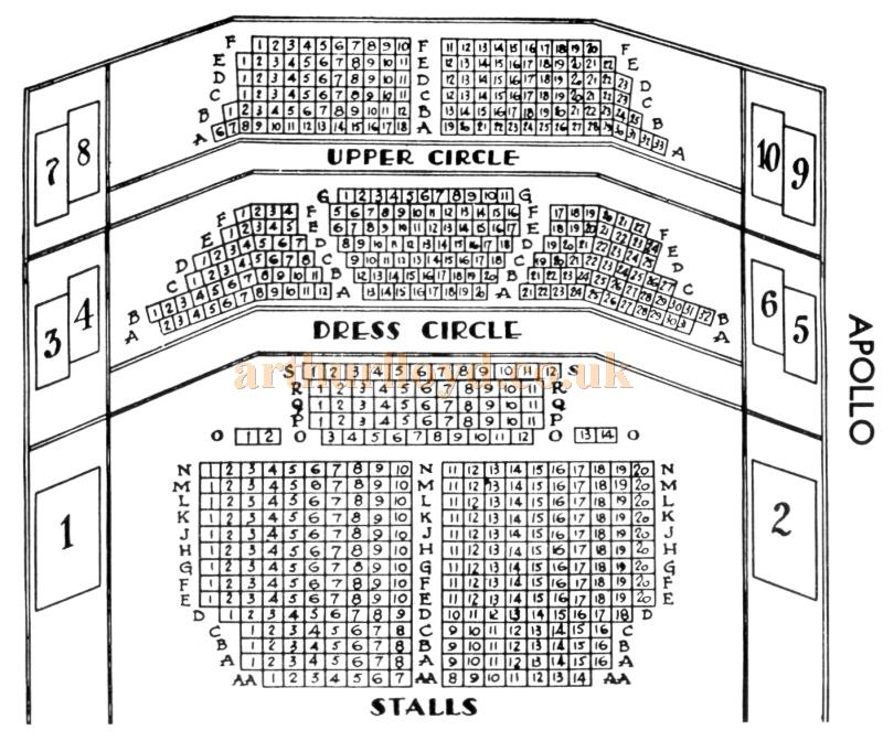 A Seating Plan for the Apollo Theatre, probably 1920s