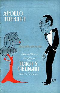 Programme for 'Idiot's Delight' at the Apollo Theatre 1938.