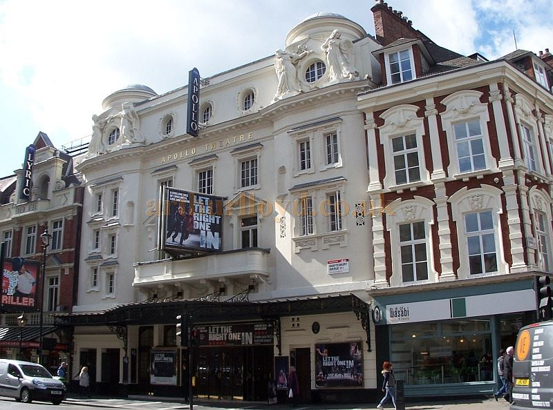 The Apollo Theatre, Shaftesbury Avenue during the run of 'Let The Right One In' in April 2014 - Photo M. L.