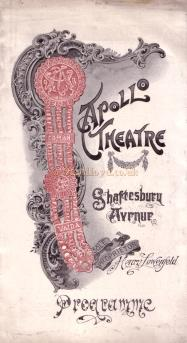 A Programme for 'The Stronger Sex' at the Apollo Theatre in 1907 - Click for cast details.