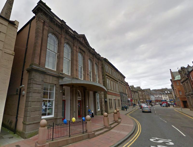 A Google StreetView Image of the Webster Memorial Theatre, Arbroath - Click to Interact.