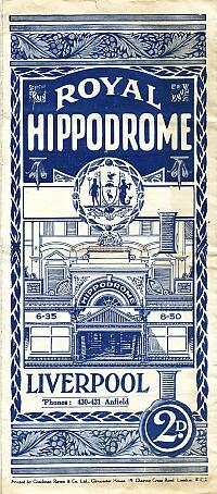 Variety Programme for the Royal Hippodrome Theatre, Liverpool for the week beginning Monday the 8th of April 1928 - Click to see entire Programme.