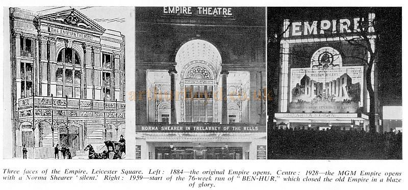 Three faces of the Empire, Leicester Square.