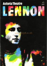 Programme for 'Lennon' at the Astoria Theatre in 1985.