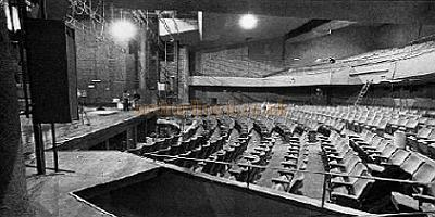 The auditorium and stage of the Astoria Theatre in its live theatre incarnation - From 'Sightline' 1978.