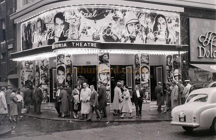 The Astoria Theatre during the run of the musical 'Around the World in 80 Days', mid 1957 - Courtesy Allan Hailstone.