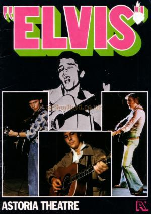 The opening night souvenir programme for 'Elvis' on the 28th of November 1977