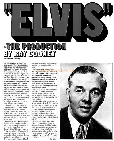 """Elvis"" - The Production - By Ray Cooney"
