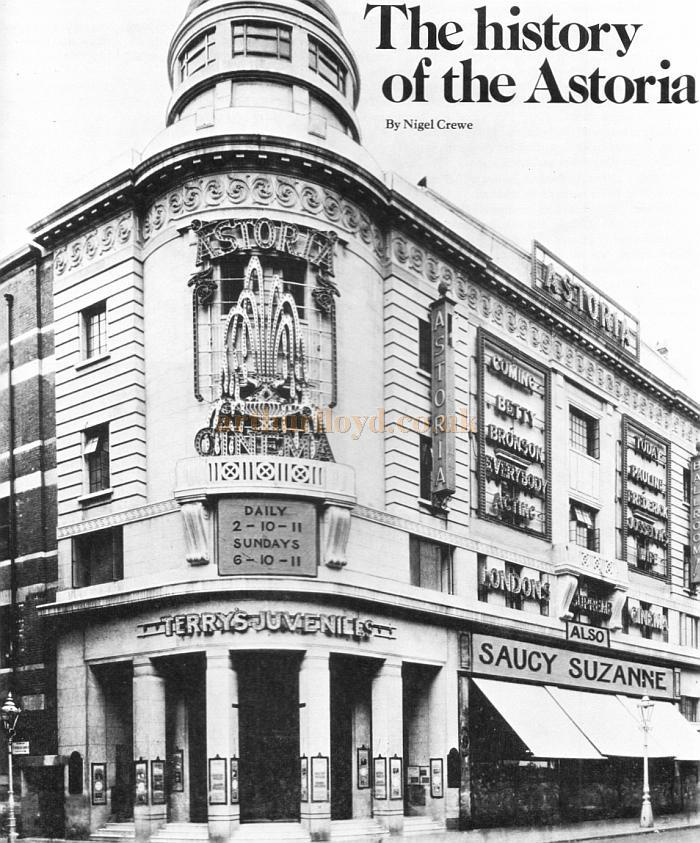 The Astoria Theatre during the run of 'Terry's Juveniles' - From the opening night souvenir programme for 'Elvis' on the 28th of November 1977