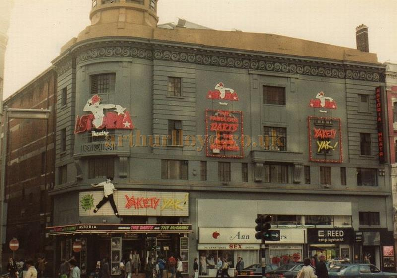 The Astoria Theatre during the run of 'Yakety Yak' in 1983 - Courtesy of Drac
