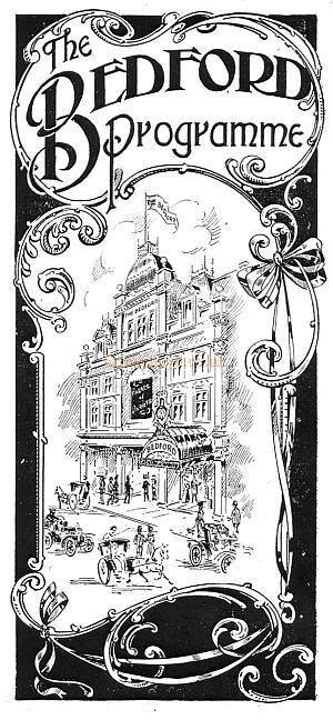 Early Programme for the Bedford Music Hall - Courtesy Peter Charlton.