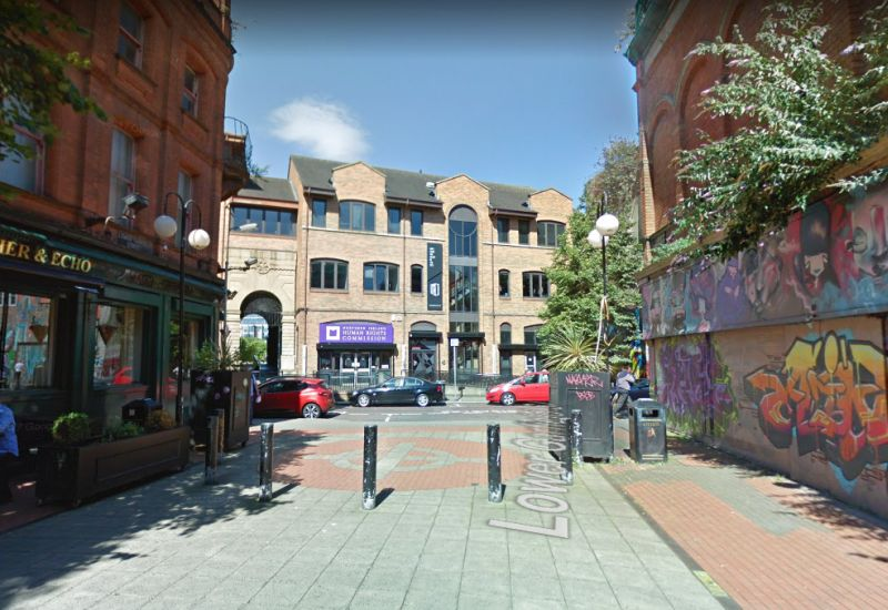A Google StreetView Image of the site of the Alhambra Theatre / Music Hall, Belfast - Click to Interact.