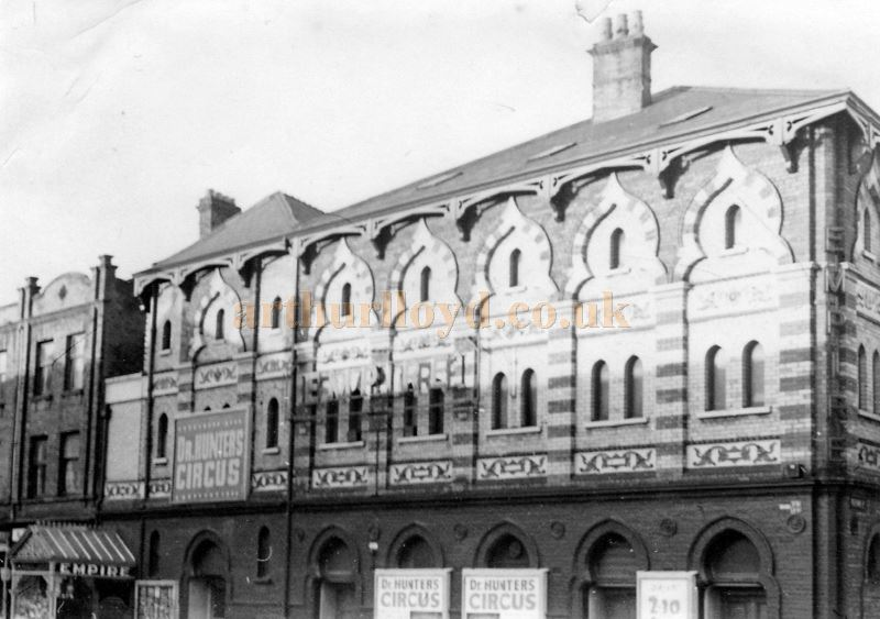 The Empire Theatre, Belfast during the run of Dr. Hunters Christmas Circus - Courtesy Bill Stilling