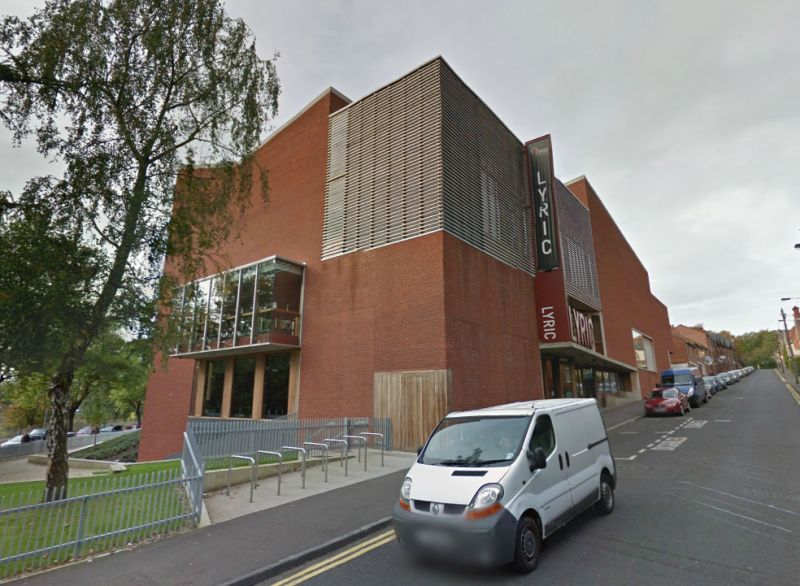 A Google Streetview image of Belfast's Lyric Theatre - Click to Interact