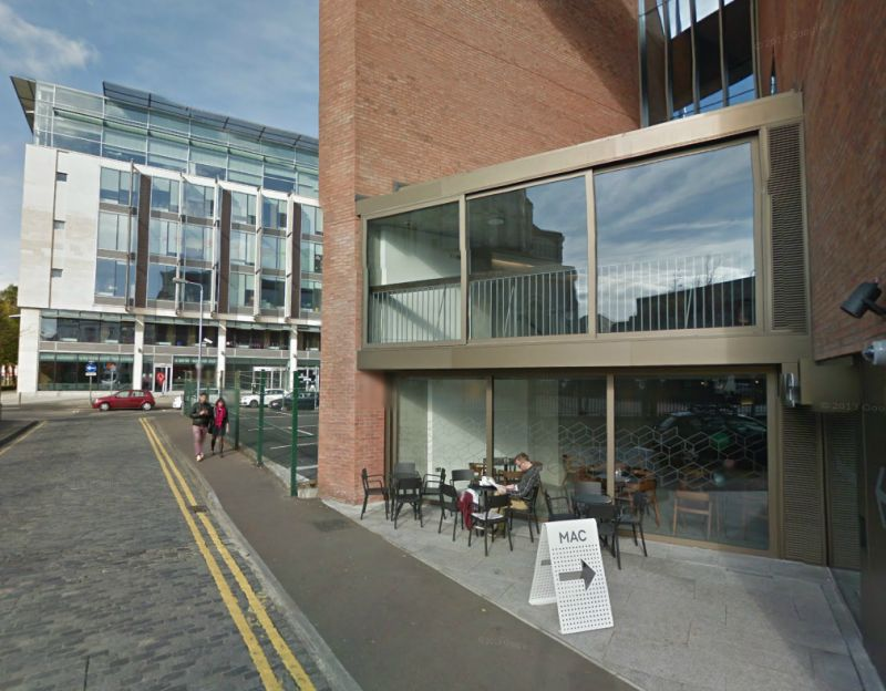 A Google Streetview image of Belfast's Metropolitan Arts Centre - Click to Interact