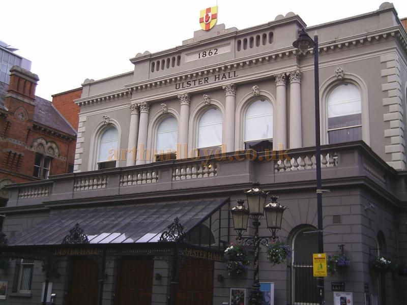 The Ulster Hall, Belfast in a photograph taken in June 2011 - Courtesy Allan Hailstone.