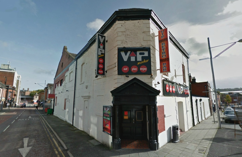A Google StreetView Image of the VIP Snooker Club in Blackburn, site of the former Ohmy's Circus - Click to Interact