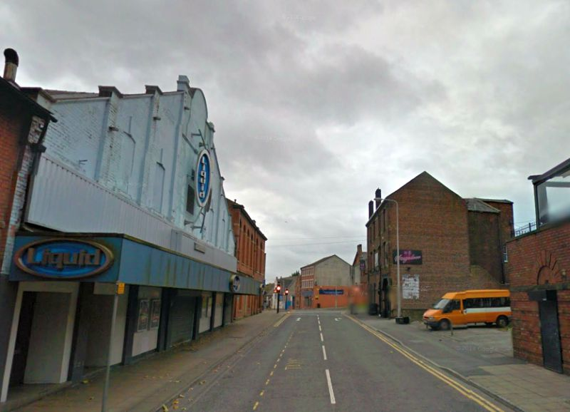 A Google StreetView Image of the former Olympia Theatre, Blackburn - Click to Interact