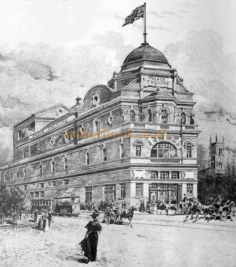A Sketch of the New Palace Theatre, Blackburn - From the Building News and Engineering Journal of September the 30th 1898.