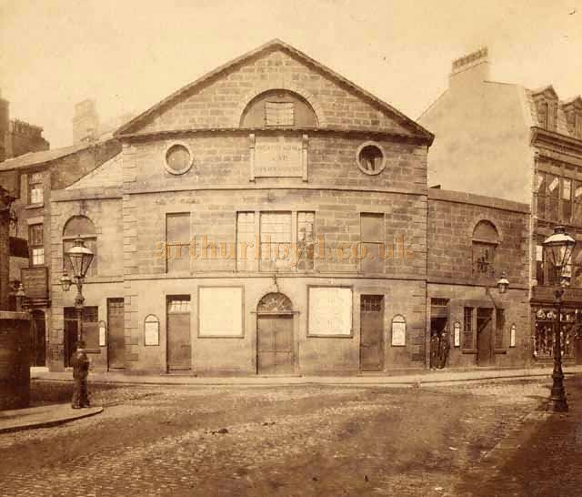 An early photograph of the Theatre Royal, Blackburn - Image provided by Blackburn with Darwen Borough Council for use in the Cotton Town digitisation project.