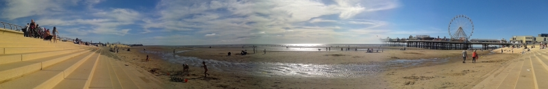 A Panoramic View of Blackpool's Seafront - Photo M. L. August 2012