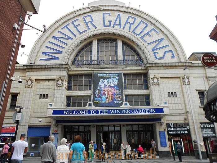 The Coronation Street entrance to the Winter Gardens Complex, Blackpool - Photo M.L. August 2012.