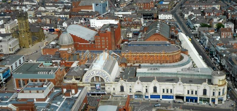 The whole of the Winter Gardens Complex as seen from the top of the Blackpool Tower - Photo M.L. August 2012