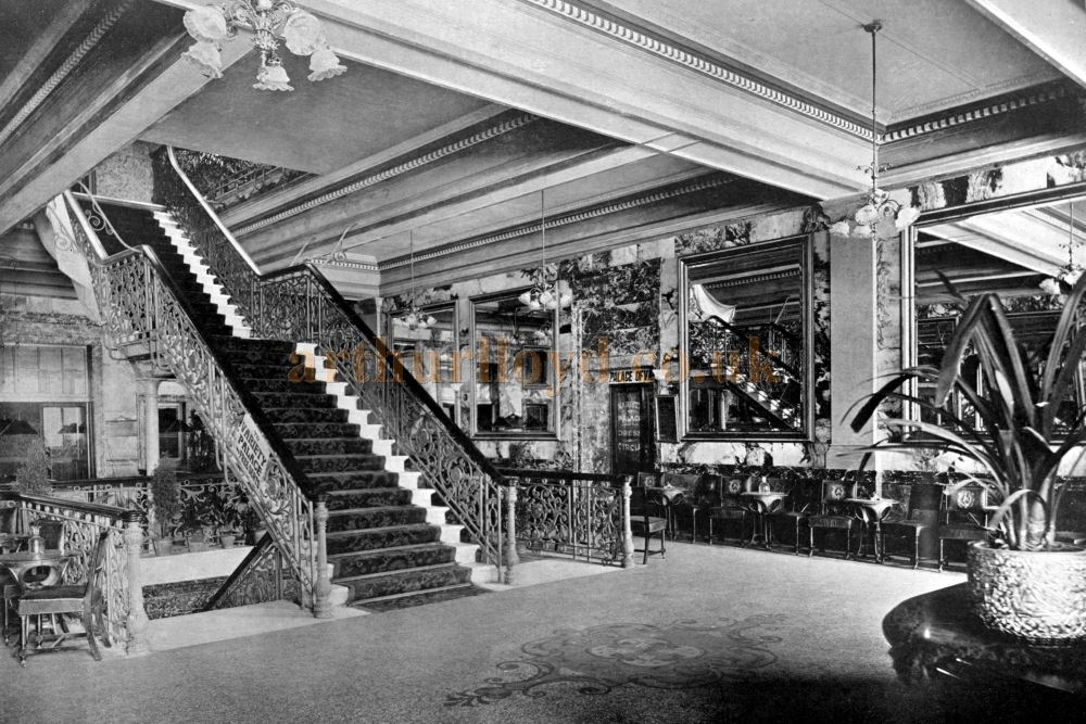 The Entrance Hall of the Blackpool Alhambra Complex from an early 1900s book of postcards - Courtesy William Neale.