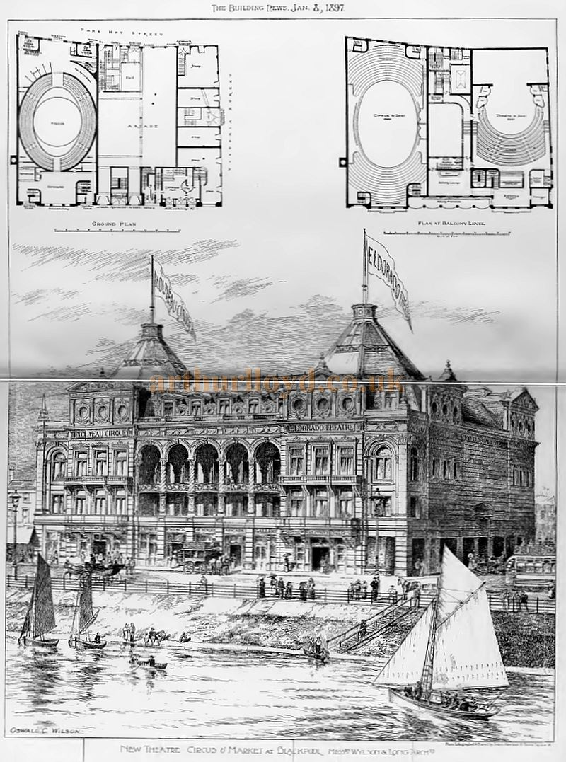 The Building News and Engineering Journal reported on the proposed new building in their January 3rd 1897 edition, along with many sketches of the various parts of the complex. Click for  article and images.