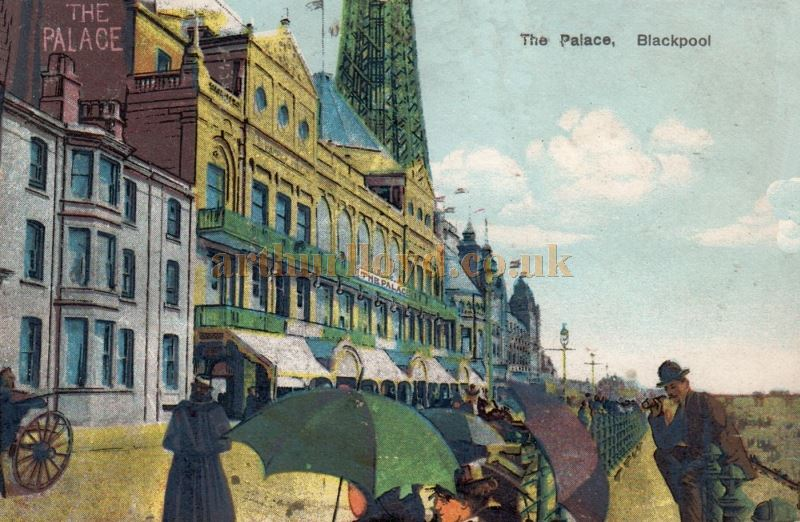 An early postcard depicting the Palace Complex, Blackpool posted in 1907 - Courtesy David Pitcher