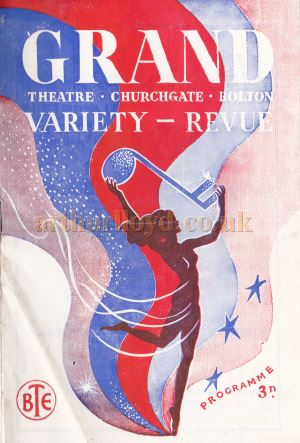 A Programme for 'Cinderella' at the Grand Theatre, Bolton for the week commencing January 13th 1958 - Kindly Donated by Marguerite Isherwood.