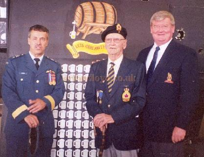Brig. General Gaston Cloutier, Canadian Armed Forcers, Bob Kerns, and Clarence Simonsen.