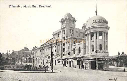 The Alhambra Theatre / Music Hall, Bradford - From a Postcard.
